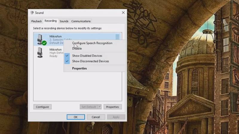 How to increase the output level microphone in Windows 10